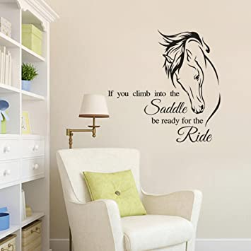 Amazon.com: Horse Wall Decal, Wall Words Vinyl Sticker, Girls Bedroom Wall  Decal, Teen Girl Quote Sticker: Baby