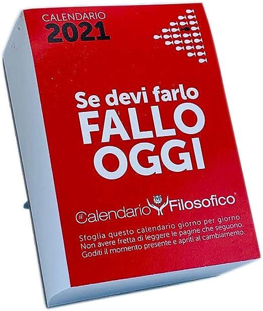 Calendario Filosofico 2021 da Tavolo con Alette da Supporto Formato A6 14x10 cm