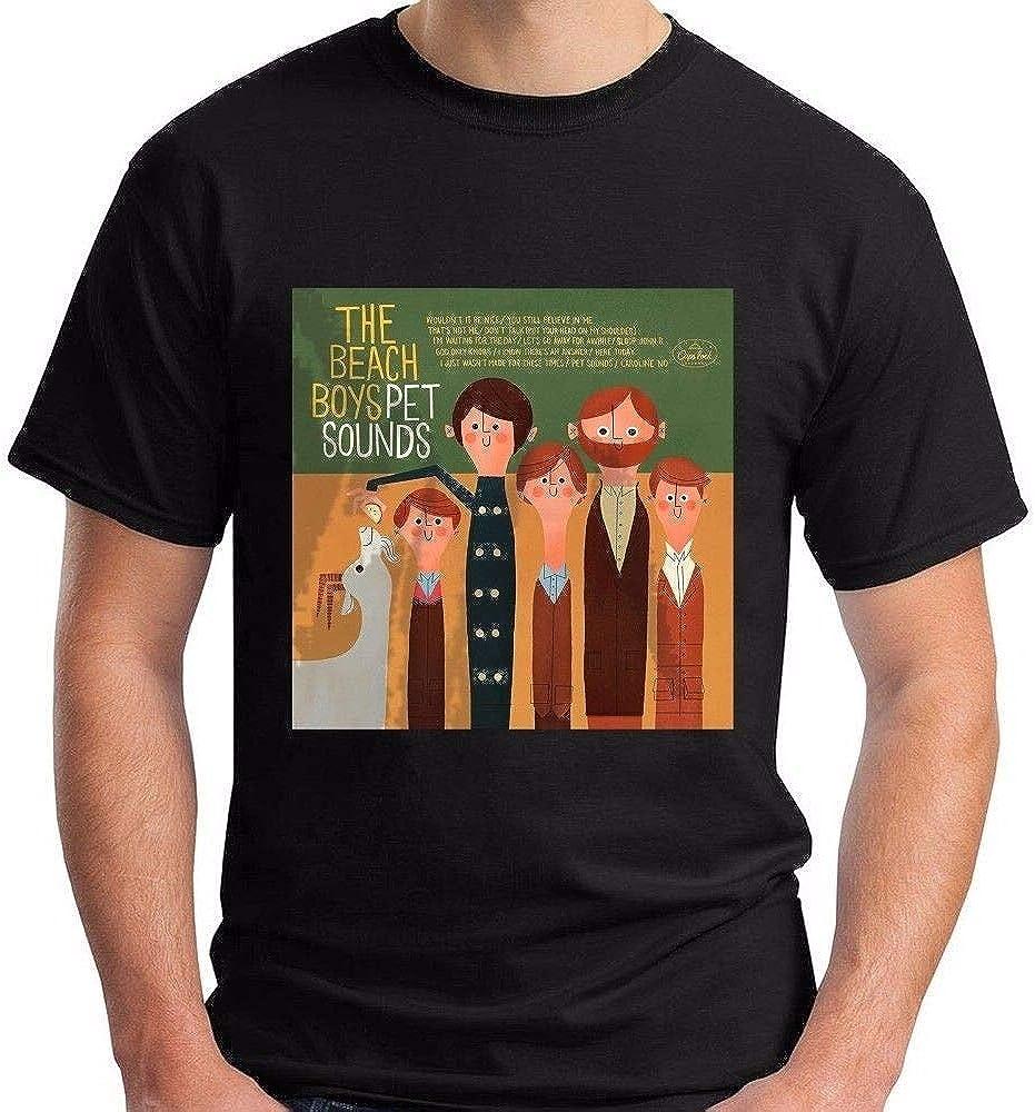 AN The Beach Boys Pet Sounds Short Sleeve Black Men's T-Shirt 100% Cotton