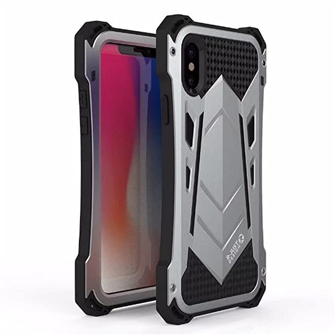newest a51cb a68e4 iPhone 7 Plus Case,iPhone 7 Plus Case,R-JUST Outdoor Shockproof Dirtproof  Waterproof Metal&Silicone Phone Cover Cases for Apple iPhone 7/8 plus 5.5  ...