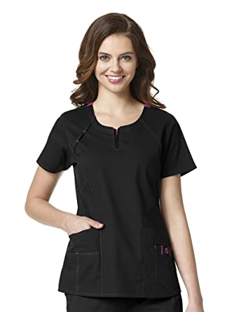 0b6e6a835c1 Amazon.com: WonderWink Women's Wonderflex Heaven Scrub Top: Clothing