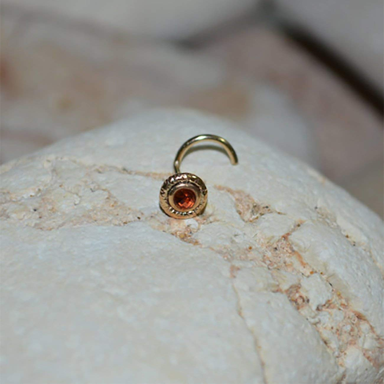 Helix Earring Stud Nose Ring Tragus Hoop Cartilage Stud Conch Stud Gold TRAGUS EARRING STUD //// 2mm Garnet Nose Stud 20 gauge