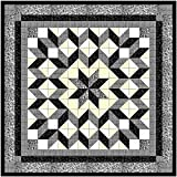 quilting pre cut kits - Easy Quilt Galaxy Star Black and White Nuetrals/EXPEDITED SHIPPING