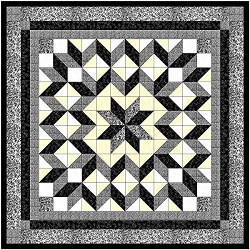 Easy Quilt Galaxy Star Black and White Nuetrals/EXPEDITED SHIPPING