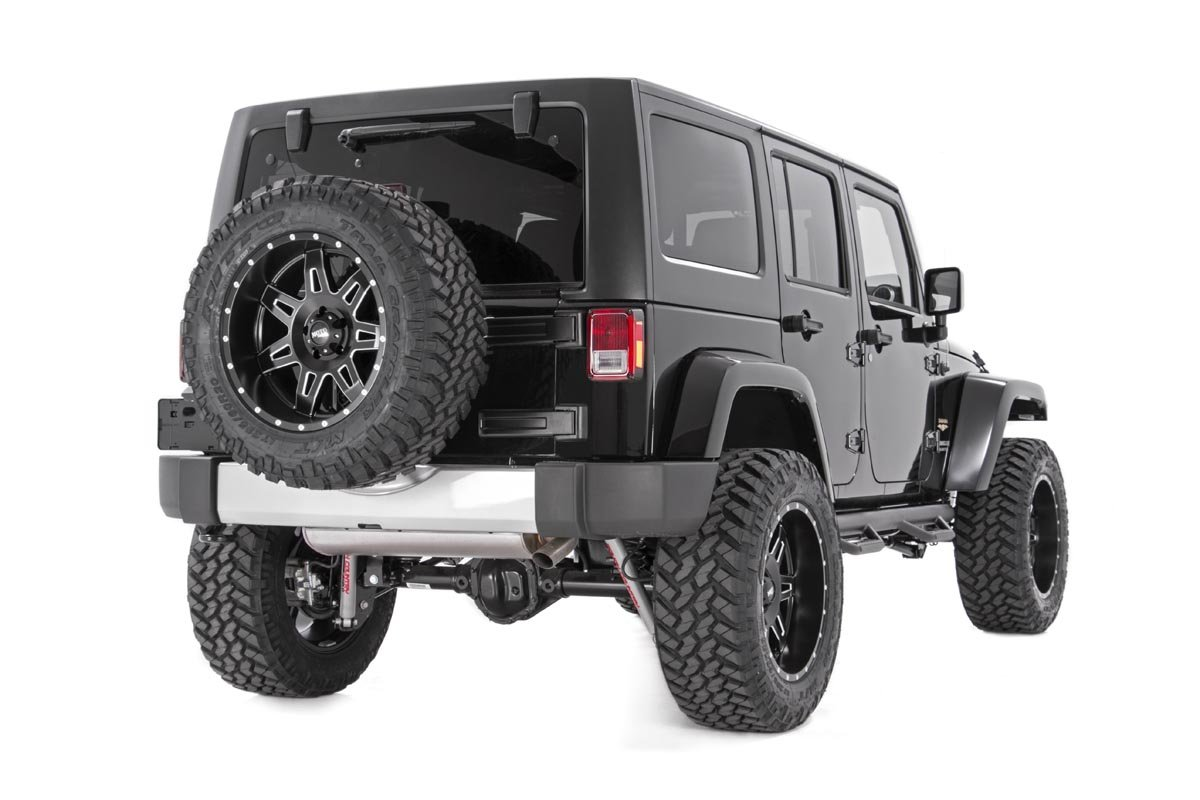 Jeep Wrangler JK 4DR Drop Side Steps Rock Sliders 90764 Rough Country Nerf Bar Hoop Steps Fits 2007-2018