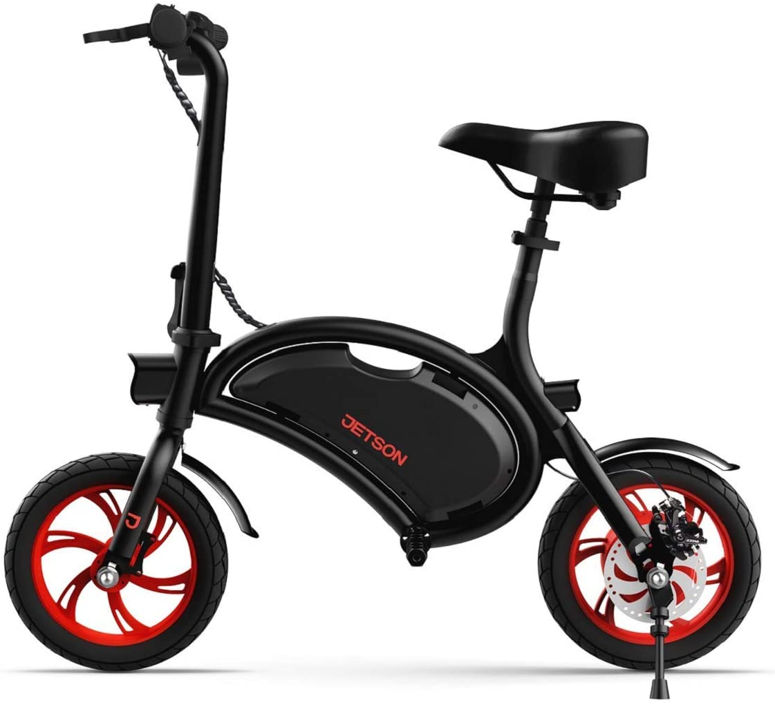 Amazon Com Jetson Bolt Folding Electric Bike Black With Lcd Display Lightweight Portable With Carrying Handle Travel Up To 15 Miles Max Speed Up To 15 5 Mph Sports Outdoors