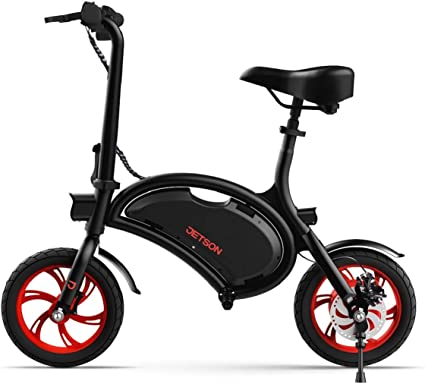 Amazon.com: Jetson Bolt Folding Electric Bike, Black - with LCD Display, Lightweight & Portable with Carrying Handle, Travel Up to 15 Miles, Max Speed Up to 15.5 MPH: Sports & Outdoors