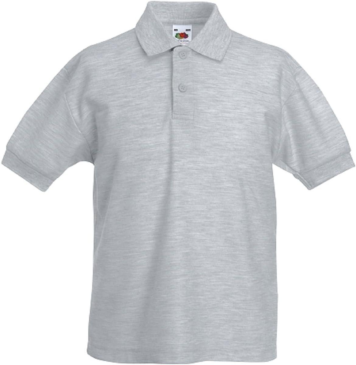 Fruit of the Loom Pique Polo - Camiseta para niño 3 Pack Heather Grey 9-11 Años: Amazon.es: Ropa y accesorios