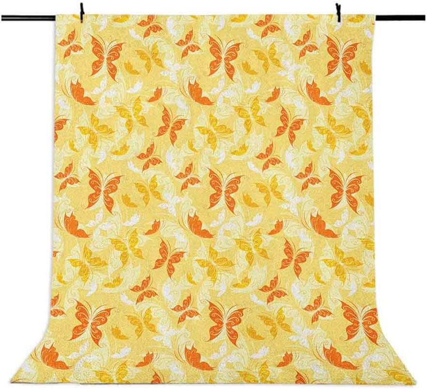 7x10 FT Fish Vinyl Photography Background Backdrops,Oriental Koi Fish Floral Arrangement Petals and Leaves Doodle Style Animal Background for Photo Backdrop Studio Props Photo Backdrop Wall