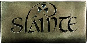 Biddy Murphy Wild Goose Slainte Sign Irish Plaque Resin Cast Bronze Coated Irish Blessing Good Health Shamrock 7 1/2 Inches Wide by 3 3/4 Inches Tall Ready to Hang Made in Ireland