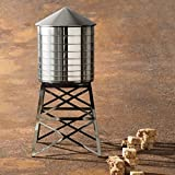 Alessi Water Tower Kitchen Container in Stainless Steel, Mirror Polished with Black Stand10.75""