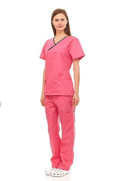 7607da8028e Denice / Solid Set/Missy Fit/Multiple Pockets/Women/Medical Scrub 943
