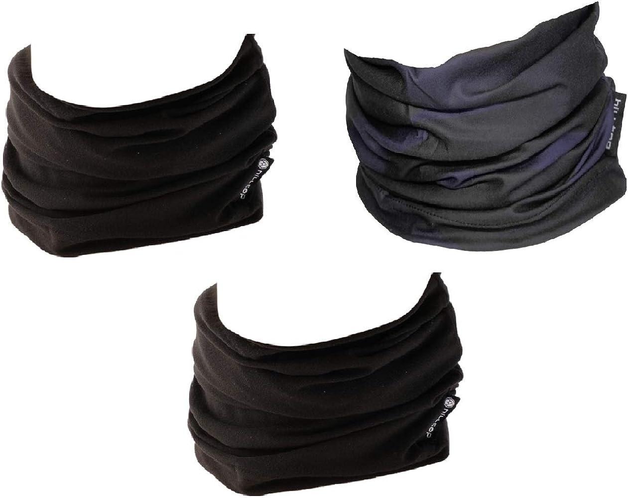Bufanda de Tubo Cuello Deportivo Hilltop 3 x Braga de Cuello para Motociclismo Multifuncional Bandana//Conjunto de 3 piezas con Dise/ños de Moda