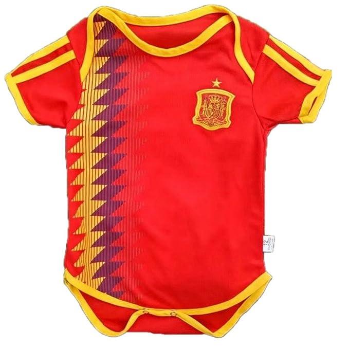 Amazon Com 2018 Newborn Baby Ropmer World Cup Short Sleeve Spain