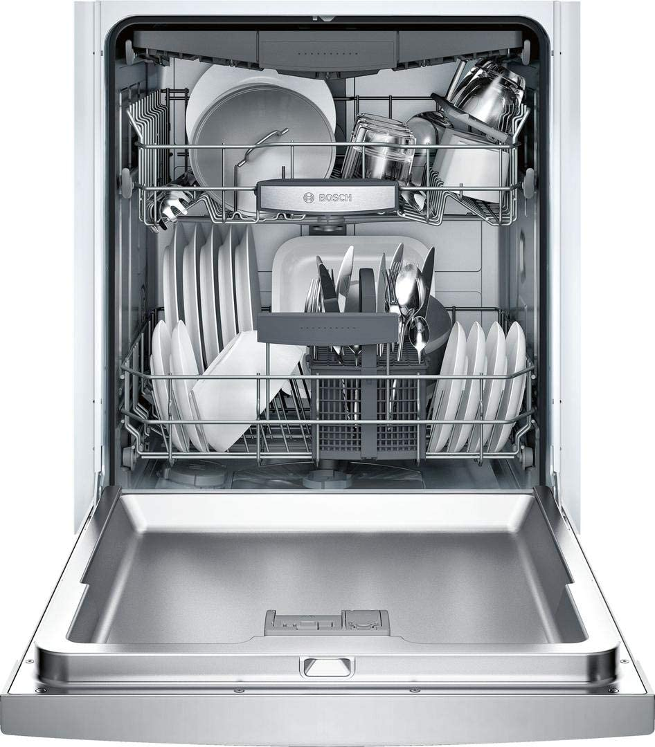 Bosch SGE68X55UC 800 Series 24 Inch Built In Full Console Dishwasher with 6 Wash Cycles, in Stainless Steel
