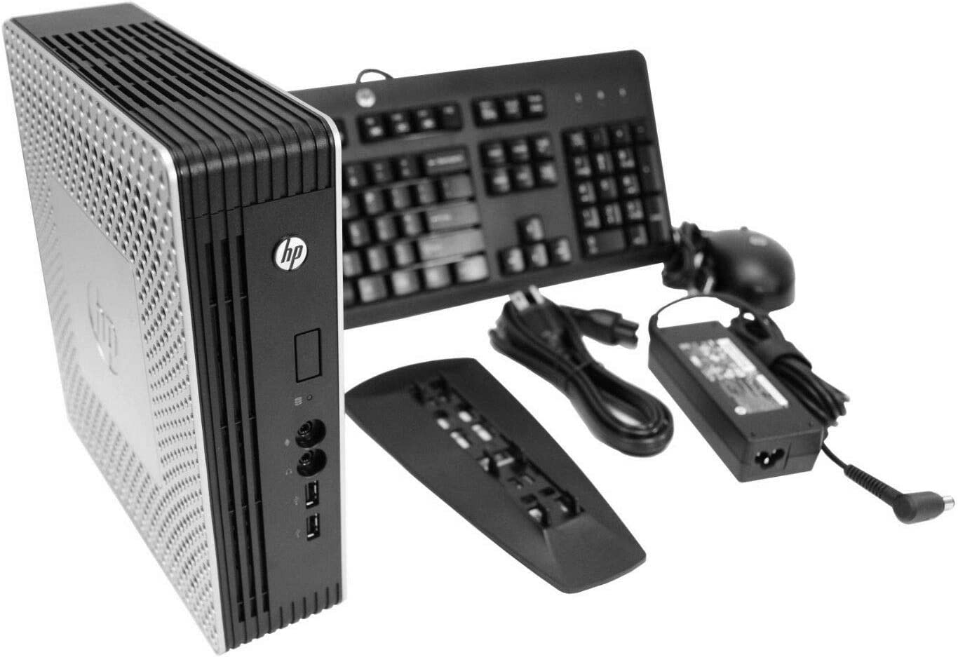 HP T610 Plus Thin Client (C9Y36UP#ABA) | AMD 1.65GHz Dual Core - A55E CPU / 4GB RAM / 4GB SSD / ThinPro OS (Renewed)