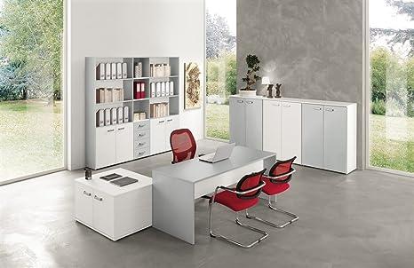 Libreria Ufficio Bianco : Set mobili da ufficio va723: amazon.it: casa e cucina