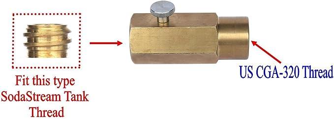 Adaptador de Soda Adaptador de Recarga de CO2 Negro de 1,5 m Duradero con v/álvula de liberaci/ón F/ábrica de Agua de Soda confiable para SodaStream