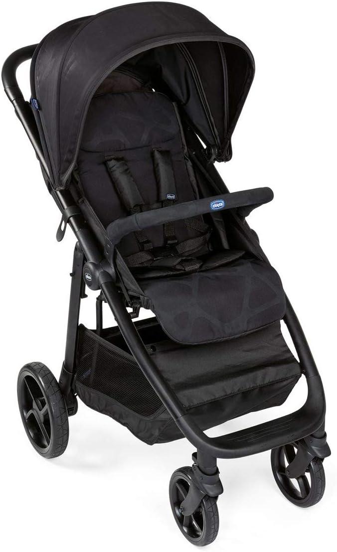 Chicco MultiRide - Silla de paseo todoterreno con ruedas grandes y suspensión, hasta niños 22 kg, color negro (Jet Black)