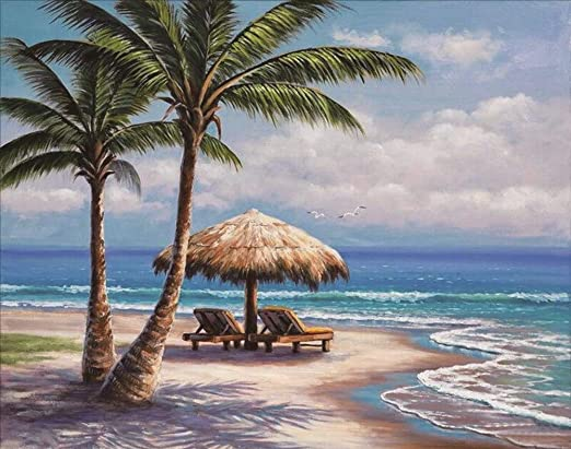 Beach Full Drill DIY 5D Diamond Painting Cross Stitch Kits Home Mosaic Seaside