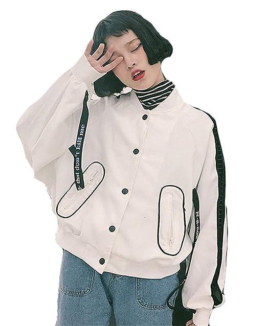 Chaquetas Bomber Mujer Otoño Fashion Manga Largo Chaqueta Elegantes con Cordones Estampadas Basic College Casual Relaxed Abrigos Chaqueta Piloto Outerwear ...