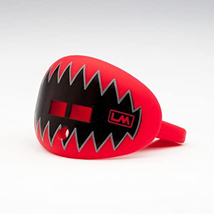 LOUDMOUTHGUARDS Pacifier Lip Protector Mouthguard (Shark Teeth-Falcon Red)