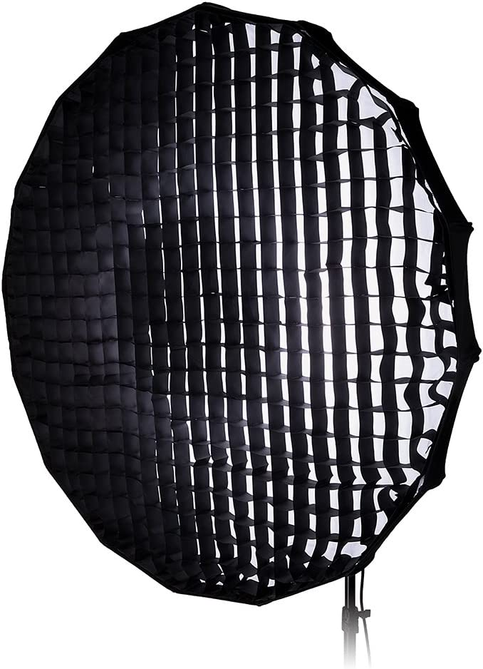 Collapsible Beauty Dish and Softbox Combination with Eggcrate Grid and Speedring for Photogenic 100cm Pro Studio Solutions EZ-Pro 40in and Compatible Norman ML