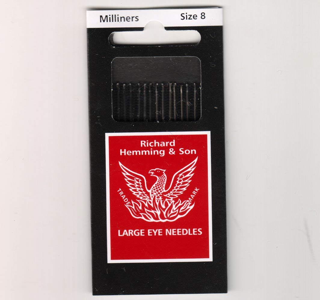 Richard Hemming Needles Made in England Milliners Size 8