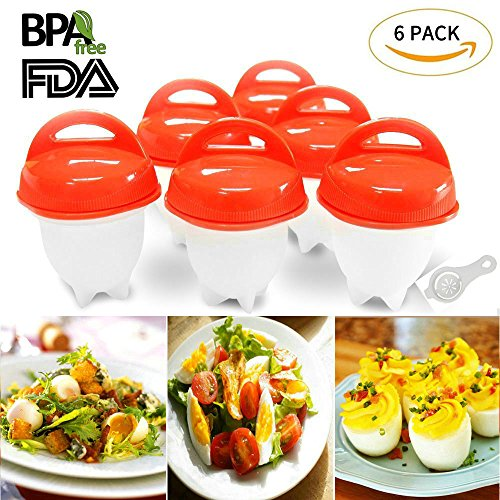 Egg Cooker Hard amp Soft Maker and Separators Poached Boiled Eggs Steamer BPA Free No Shell Non Stick Silicone AS SEEN ON TV  6 Egg Cups