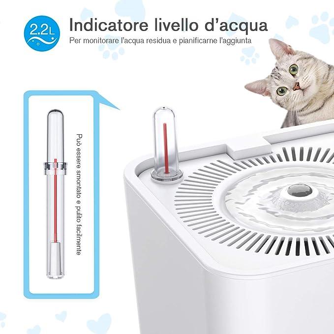 zihui Fontanella Automatica per Animali Domestici Tipo A Sfera Antigoccia Rolling Water Dispenser Automatico per Animali Domestici Verticale per Piccoli Animali Coniglio Criceto