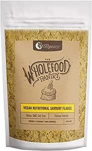 Nutra Organics The Wholefood Pantry Vegan Nutritional Savoury Flakes 400 g, 400 grams