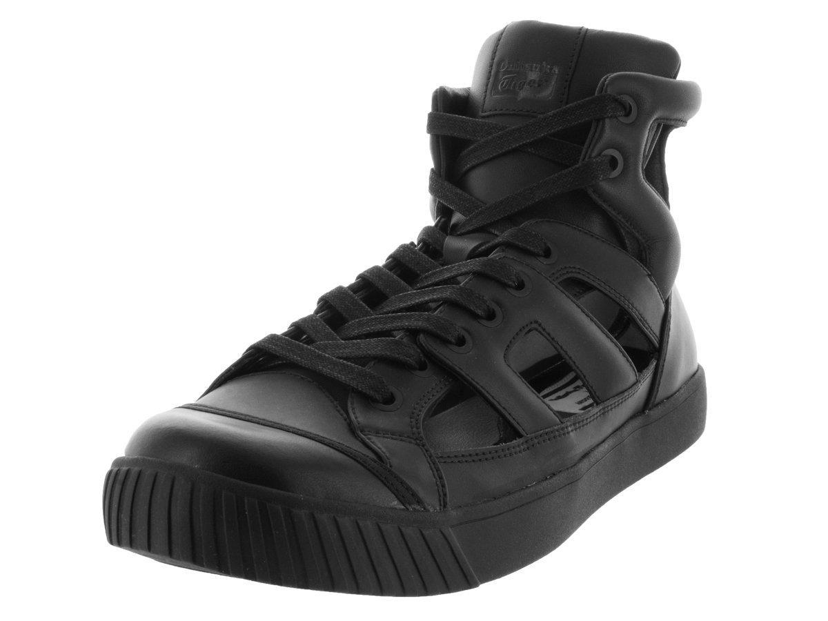 Onitsuka Tiger Hombres Glory Gladiator Leder Fashion Sneakers Schwarz / Schwarz