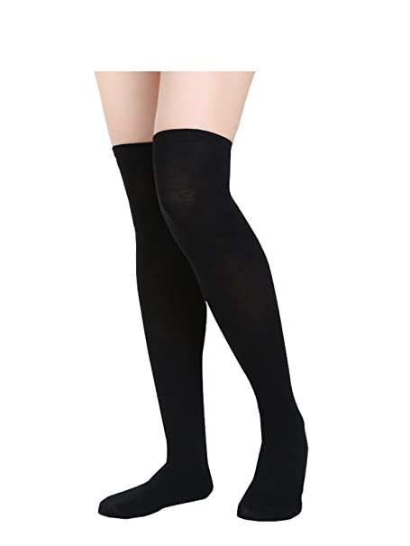 uk availability sleek latest design Women Knee Socks High Socks High Thigh Stockings for Cosplay, Halloween,  Party, Daily Wear, One Size