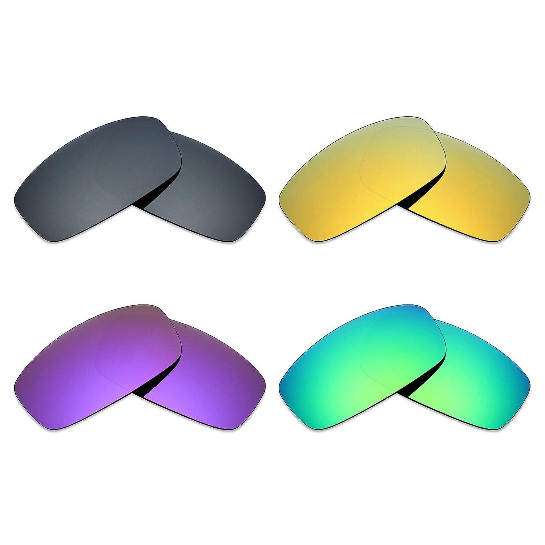 Black IR//24K Gold//Plasma Purple//Emerald Green Mryok 4 Pair Polarized Replacement Lenses for Spy Optic Hielo Sunglass