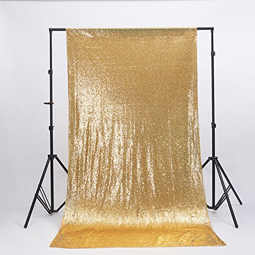 Zdada 6FTX6FT-Gold-Sequin Photo Satin Backdrop,Wedding Photo Booth,Photography Background
