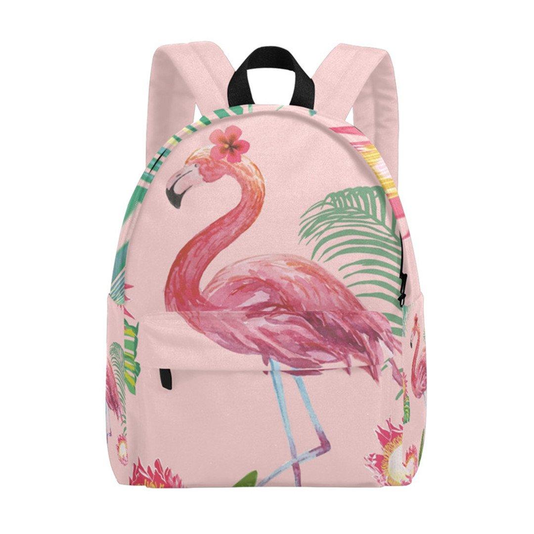 G3334519p179c213s308 Canvas Backpack Flamingo&Flowers Women Fashion Book Bag