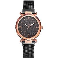 GoGoey Cadran céleste en étoile à l'échelle épurée et Minimaliste avec Montre pour Femme à Quartz Smart Watch Intelligente Horloge Bracelet