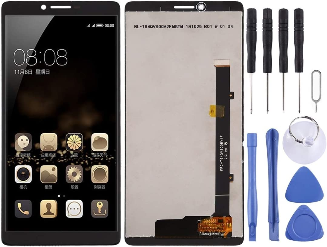 Durable Black GuiPing LCD Screen and Digitizer Full Assembly for Coolpad C3705 Color : Black
