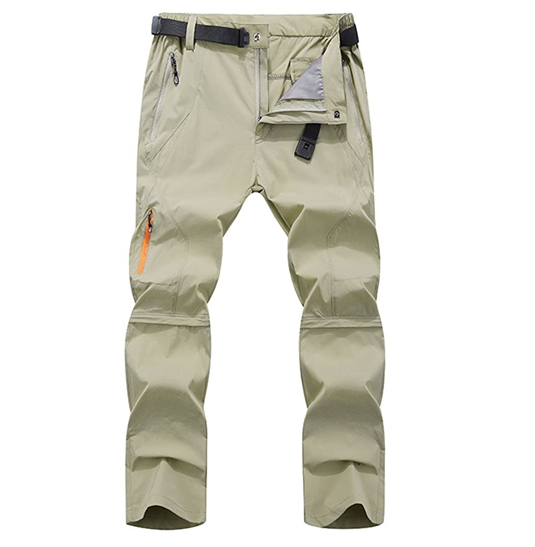 Vcansion Men's Outdoor Waterproof Work Pants Quick Dry Convertible Ripstop Cargo Shorts