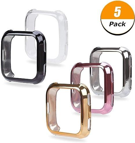 Amazon.com: Fingertip WD Fitbit Versa - Carcasa de TPU para ...