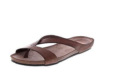 FRED DE LA BRETONIERE Pantoletten 170010030 dark brown