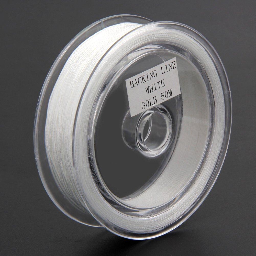 Fil de p/êche tress/é 8 brins blanc//vert//rouge 50/m 13,6/kg Broadroot