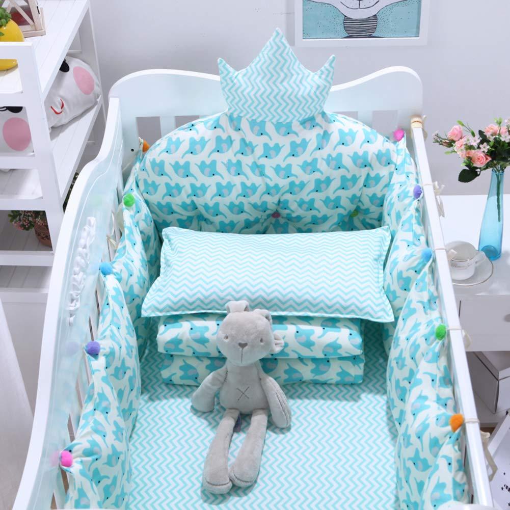 Xxn コットンのリバーシブル ベビー寝具セット,バンパーのすべてのラウンド ユニセックス 無衝突赤ちゃんベビーベッド バンパー パッド入りベビーベッド バンパー2-防止アレルギー 2-G パッケージD   B07KY7FL8W