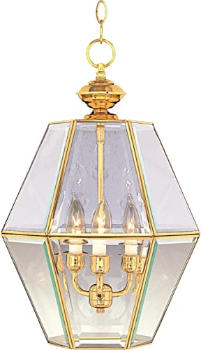 Maxim 90350CLWT Bound Glass 3-Light Entry Foyer Pendant White Clear Glass