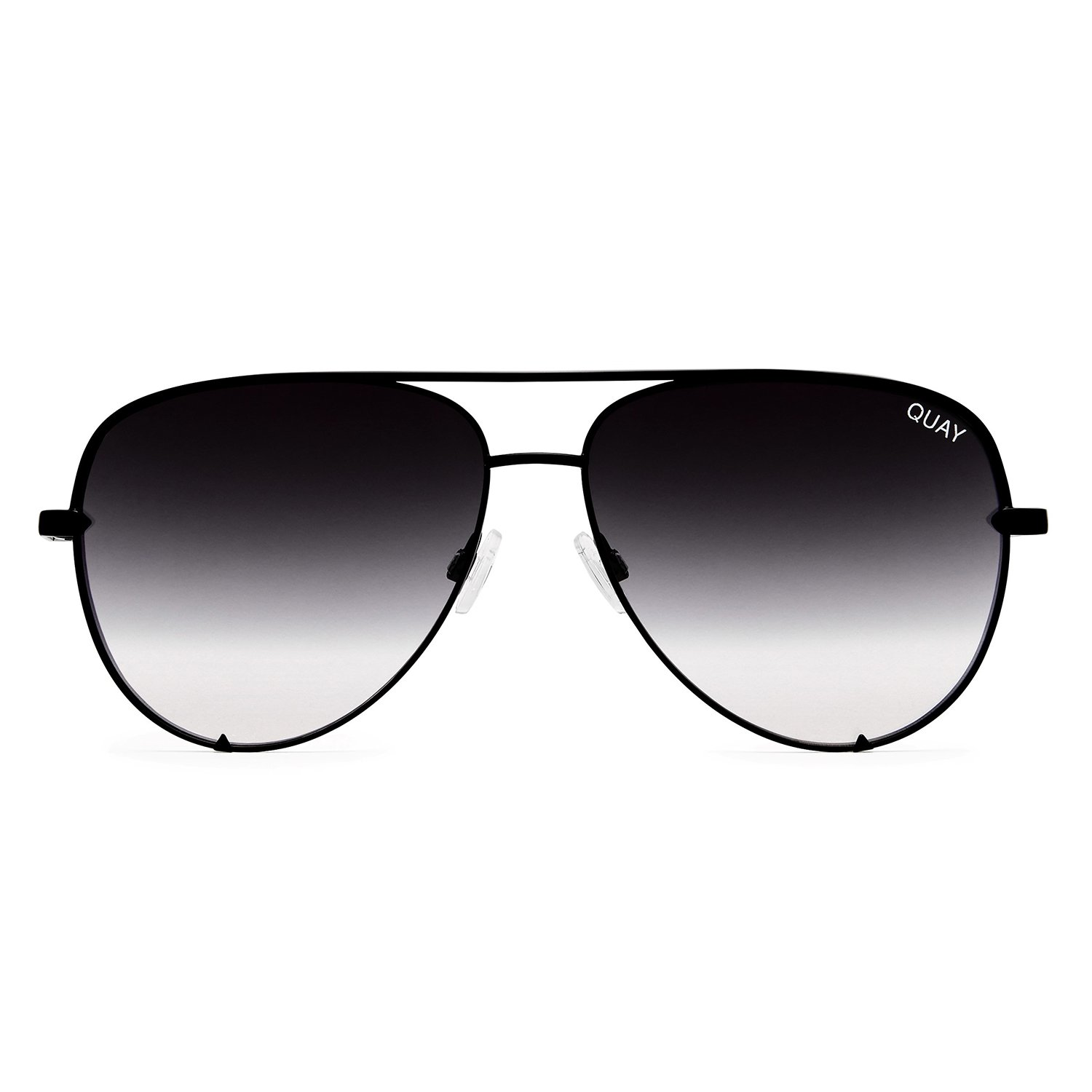 Quay Australia HIGH KEY MINI Women's Sunglasses Aviator Sunnies - Black/Fade
