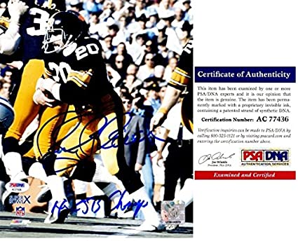 fc90d3f2b Rocky Bleier Signed - Autographed Pittsburgh Steelers 8x10 inch Photo with  4x Super Bowl Champs Inscription