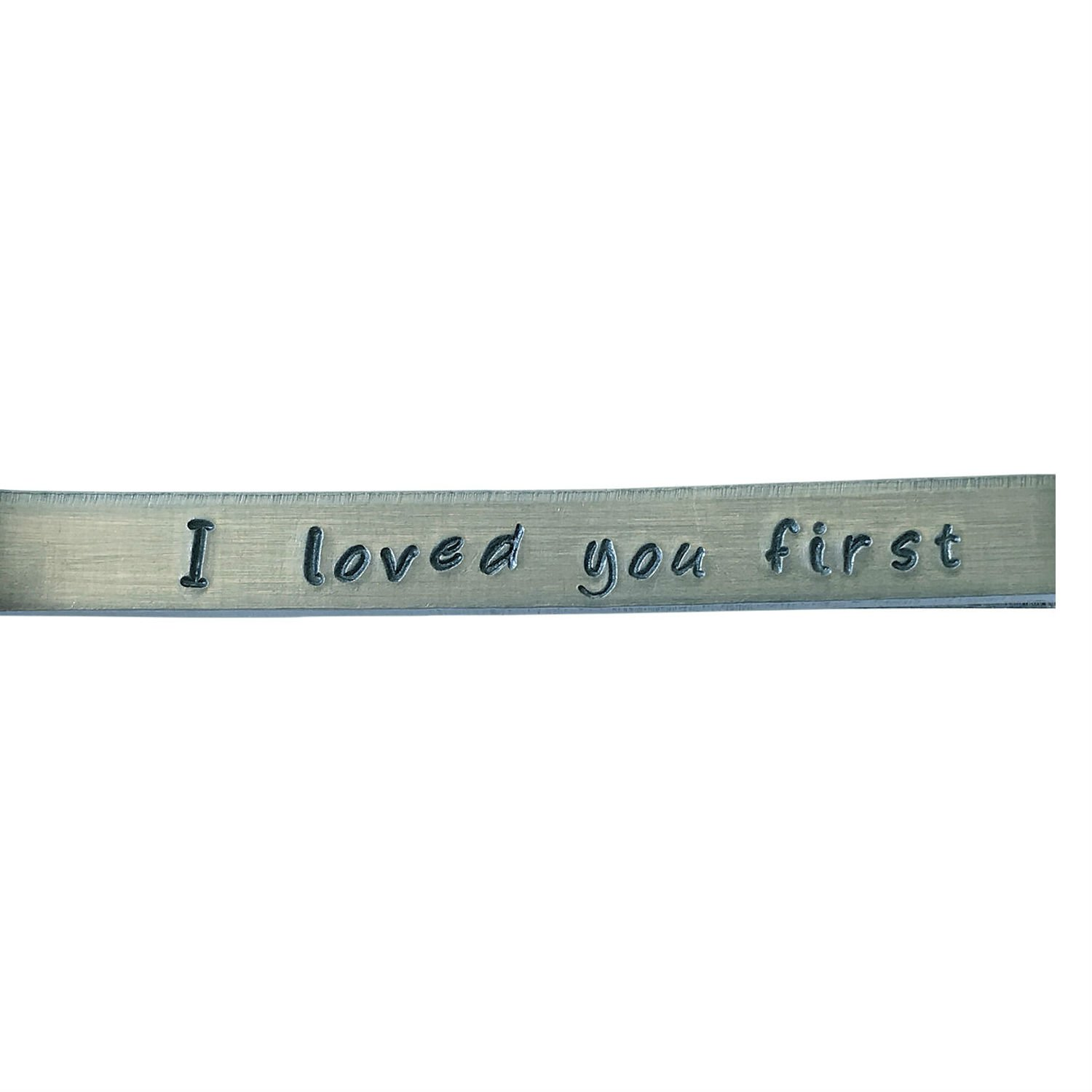 Hand Trades I loved you first Father of the Bride Tie clip - wedding gift-groomsman gift