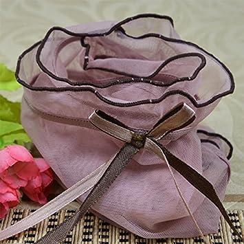 WEI WANG La Sra. Cintura delgada y transparente de encaje, tela de hilo de