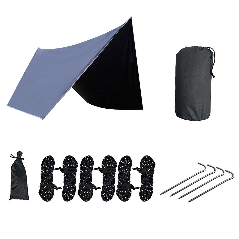 shzons Hammock Rain Fly、防水Fast Set UpハンモックShelter、軽量リップストップオックスフォード210d、Essential for aハンモックキャンプ、7.48 × 5.51 × 5.51インチ B07CSQNZBL