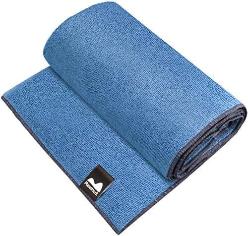 Reehut Hot Yoga Towel- Microfiber Bikram Towel for Workout, Fitness and Pilates